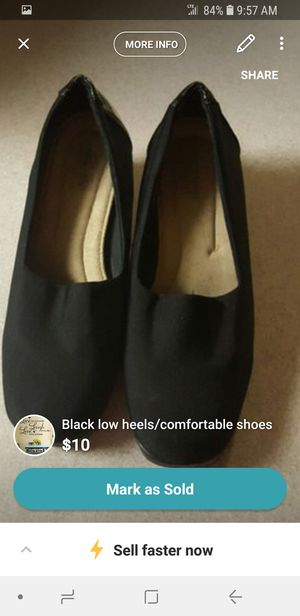 black low heels/comfortable shoes for Sale in Rochester, MN
