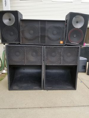 Speakers | 2 Cerwin Vega | 1 JBL DOUBLE 18 | 2 DOUBLE 15 Bass Scoops for Sale in Bristow, VA