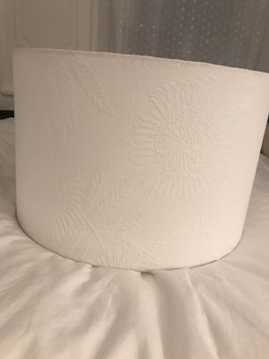 White Floral Lamp Shade for Sale in Brooklyn, NY