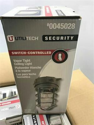 Gray Outdoor Flush Mount Light By Utilitech 4.12-in W 4 -Pack for Sale in Smyrna, TN