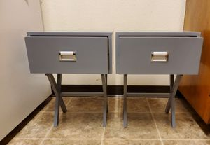 Bedside Table With a Drawer Bedroom Modern Night Stand Wood End Side 2PCS Gray for Sale in Parlier, CA