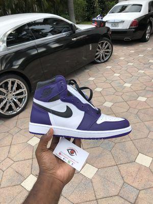 Jordan 1 Court Purple for Sale in Treasure Island, FL