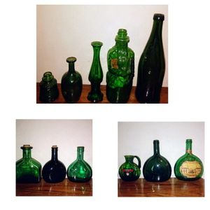 Vintage Green Bottles for Sale in St. Louis, MO