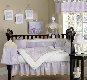 Lavender and yellow baby's crib set for Sale in Pittsburgh, PA