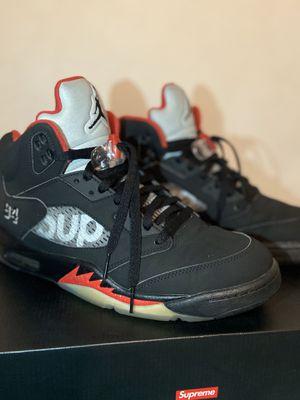 Supreme x Air Jordan 5 Retro 'Black' Size 11 for Sale in West Palm Beach, FL