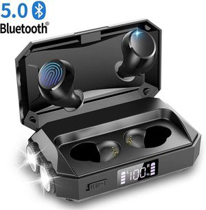 Wireless Earbuds with Flashlight, Touch Control Bluetooth 5.0 Headphones with Charging Case Waterproof In-Ear Earphones E-Book, Passive Noise for Sale in Duluth, GA