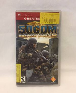 SOCOM US Navy Seals Fireteam Bravo 2 game UMD for Sony PSP 2006 for Sale in Phoenix, AZ