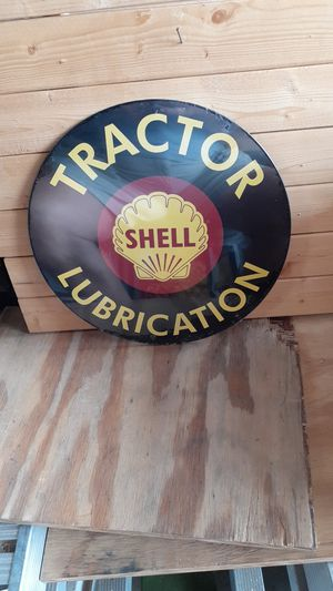 Shell tractor lubrication 12in metal sign for Sale in San Diego, CA