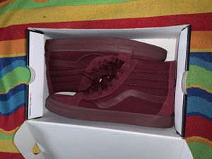 Vans shoes - Burgundy - worn/used - size 10 men's for Sale in Sacramento, CA