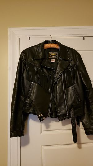 Women's leather fringed jacket size 14/med Excellent condition 125.oo firm for Sale in Coventry, RI