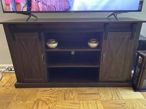 New Fully Assembled Barn Style TV Stand Console for Sale in Gaithersburg, MD