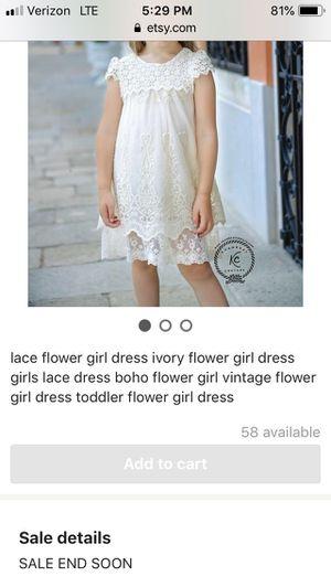 Size 5 Boho flower girl dress for wedding for Sale in Elizabethton, TN