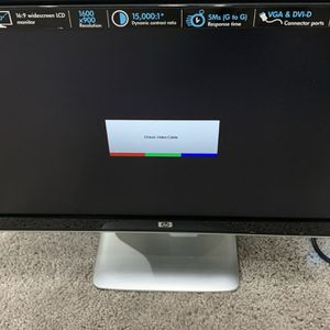 """HP Monitor 20"""" like brand new for Sale in South Brunswick Township, NJ"""