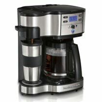 Hamilton Beach 2-Way Brewer 49980A, Single Serve Coffee Maker and Full 12 Cup Coffee Pot, Stainless Steel, Programmable for Sale in Houston, TX