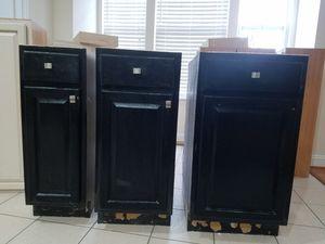 Black base kitchen cabinets for Sale in Lansdowne, VA