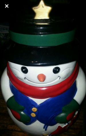 SNOWMAN COOKIE JAR for Sale in Quincy, IL