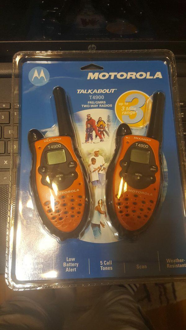 Motorola two way radios T4900 brand new