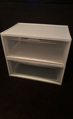 Plastic Drawers/Dressers (White) - Sterilite for Sale in Worcester, MA