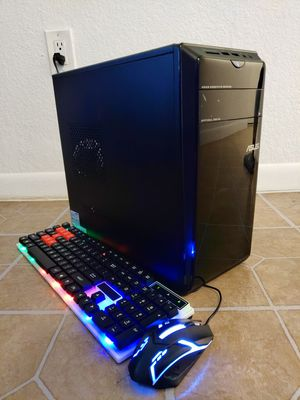 ASUS GAMING COMPUTER AMD 6 CORES 2.9GHZ, 8GB RAM, 128GB SSD+1TB HD, AMD RX560, KEYBOARD AND MOUSE. for Sale in Miami, FL