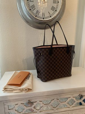 Louis Vuitton bag tote neverfull mm purse with receipt for Sale in Sacramento, CA