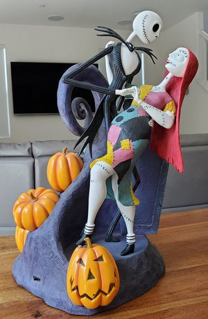Disney The Nightmare Before Christmas Figure Jack & Sally Big Fig Collectible Statue light-up Figurine for Sale in Fullerton, CA