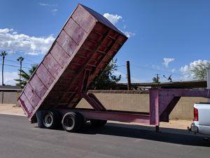 Dump trailer gooseneck 8.5 X 18 for Sale in Mesa, AZ