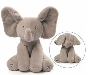 New With Tags and Box Genuine Gund Flappy The Elephant Plush Stuffed Animal - Ears Move, Sings and Plays Peek-A-Boo for Sale in Chesapeake, VA