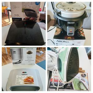 Home and kitchen appliances (indoor gril -rice cooker - Iron - sandwich grill) for Sale in Forest Grove, OR