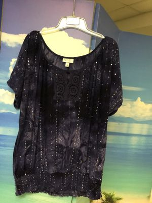 Sequined Eggplant Tunic with Ruched Bottom for Sale in Bartlett, IL