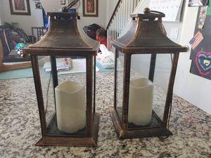 2 lanterns. Both for $10 for Sale in Rancho Santa Margarita, CA