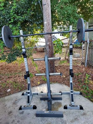 Olympic Bar and Squat Rack for Sale in Tampa, FL