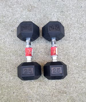 Rubber coated hex dumbbells for Sale in Bothell, WA
