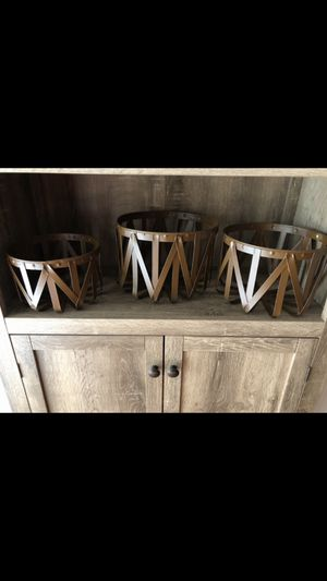 Set of 3 metal baskets for Sale in Greensboro, NC