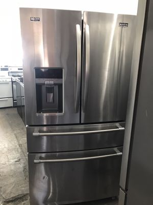 Vertex appliances. Used, STAINLESS french style refrigerator , ice maker, water dispenser, Maytag brand, energy star,great condition for Sale in Campbell, CA