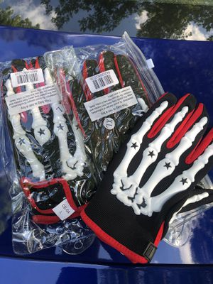 Bone motorcycle/dirt bike gloves L and XL for $20 for Sale in Chesterfield, VA