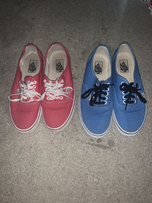 2 pairs of Vans SZ. 9.5 for Sale in Ruskin, FL