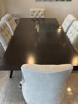 Z-Gallerie Dining Table With Custom Made Chairs for Sale in Beverly Hills,  CA