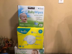 Baby wipes and diapers size 1 for Sale in Phoenix, AZ