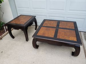 Asian Coffee Table and End Table for Sale in Apopka, FL