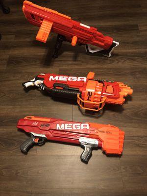 Nerf Really Big Guns Lot 3 Mega for Sale in Cumberland, RI