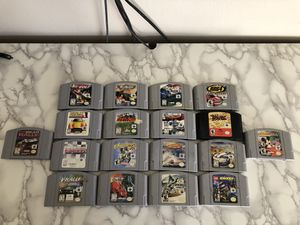 Nintendo 64 Racing Games Lot! 18 games total! Worth over $90! for Sale in Corona, CA