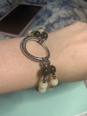 Marble beaded snd silver bracelet for Sale in Fresno, CA