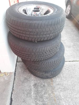 Michelin LTX M/S2 TIRES and chrome rims for Sale in Laurel, MD