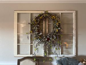 Handmade wreath and two rustic windows for Sale in Phoenix, AZ
