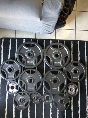 Olympic weight plates!!!!! for Sale in La Mesa, CA