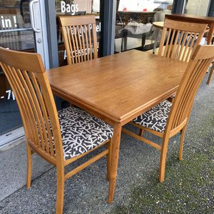 Mid Century Danish Dining Table Set for Sale in Milwaukie, OR