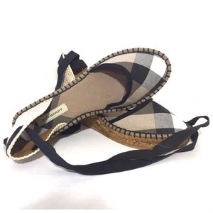 Burberry Lace Up Check Wedge Espadrille Sandals Size 36 for Sale in San Diego, CA