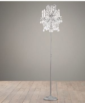 Restoration hardware standing chandelier lamp pewter for Sale in Chula Vista, CA