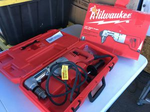 Milwaukee 7 Amp Corded 1/2 in. Corded Right-Angle Drill Kit with Hard Case for Sale in Mesa, AZ
