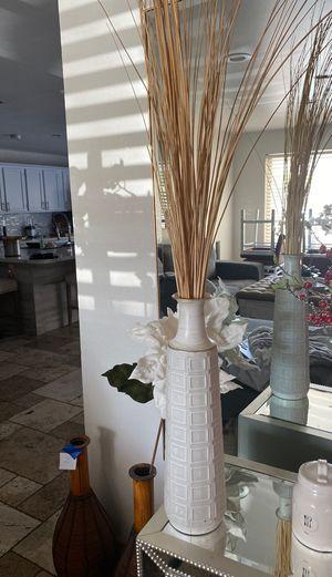 White vase with arrangement for Sale in Chandler, AZ